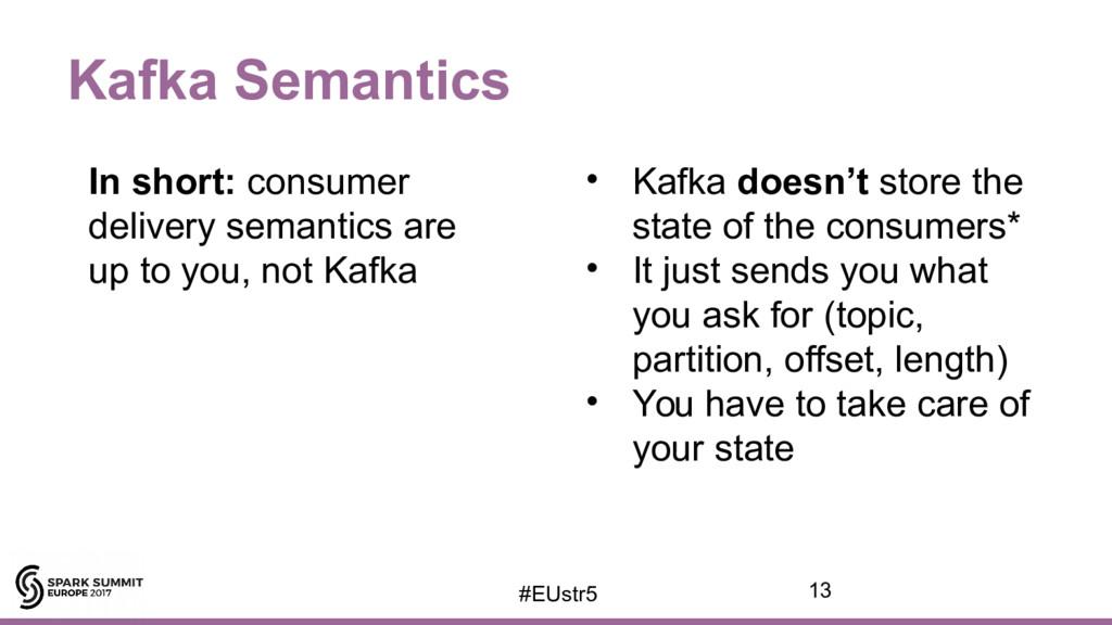 Kafka Semantics In short: consumer delivery sem...