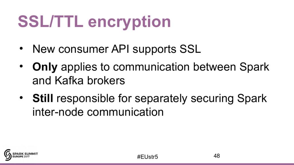 SSL/TTL encryption • New consumer API supports ...
