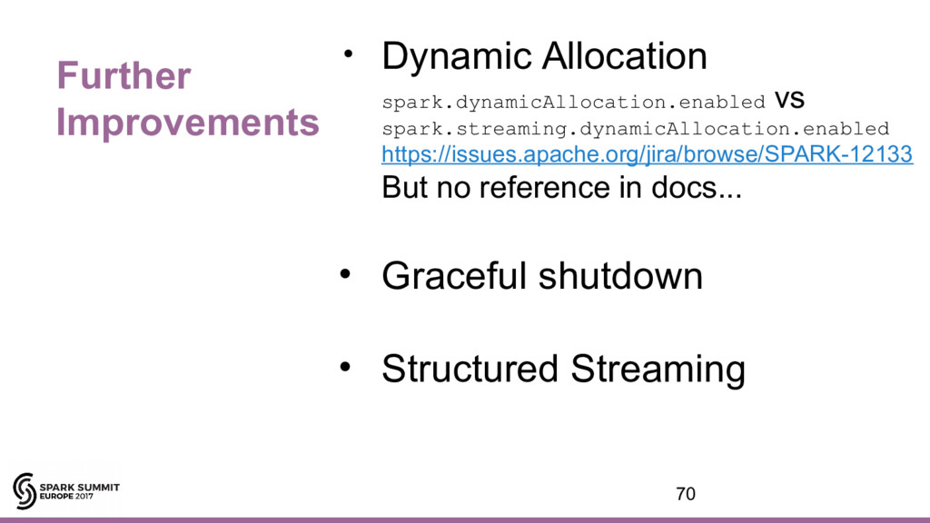 Further Improvements • Dynamic Allocation spark...