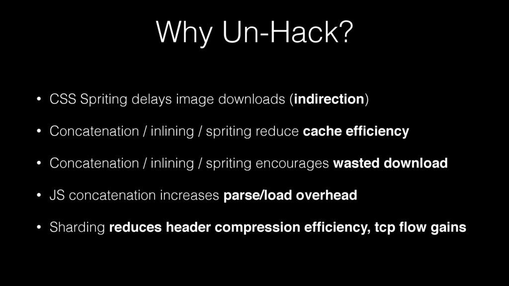 Why Un-Hack? • CSS Spriting delays image downlo...