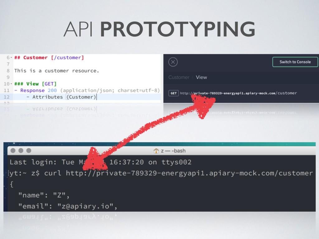 API PROTOTYPING