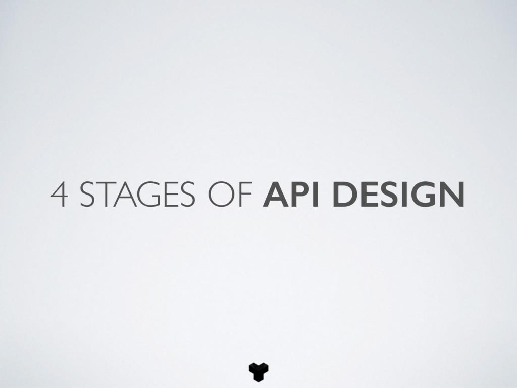 4 STAGES OF API DESIGN