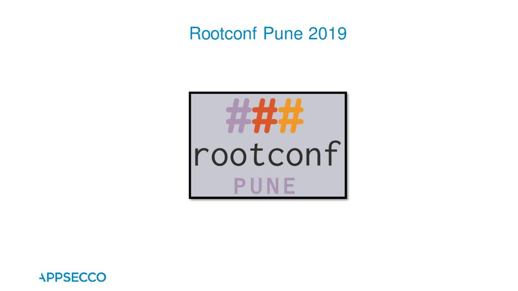 Rootconf Pune 2019