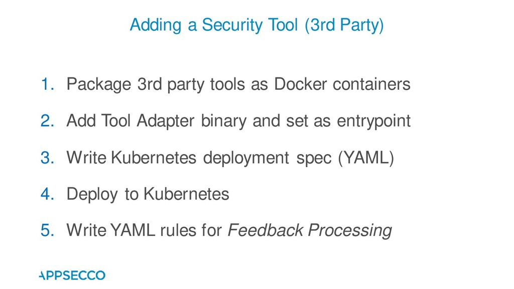 1. Package 3rd party tools as Docker containers...
