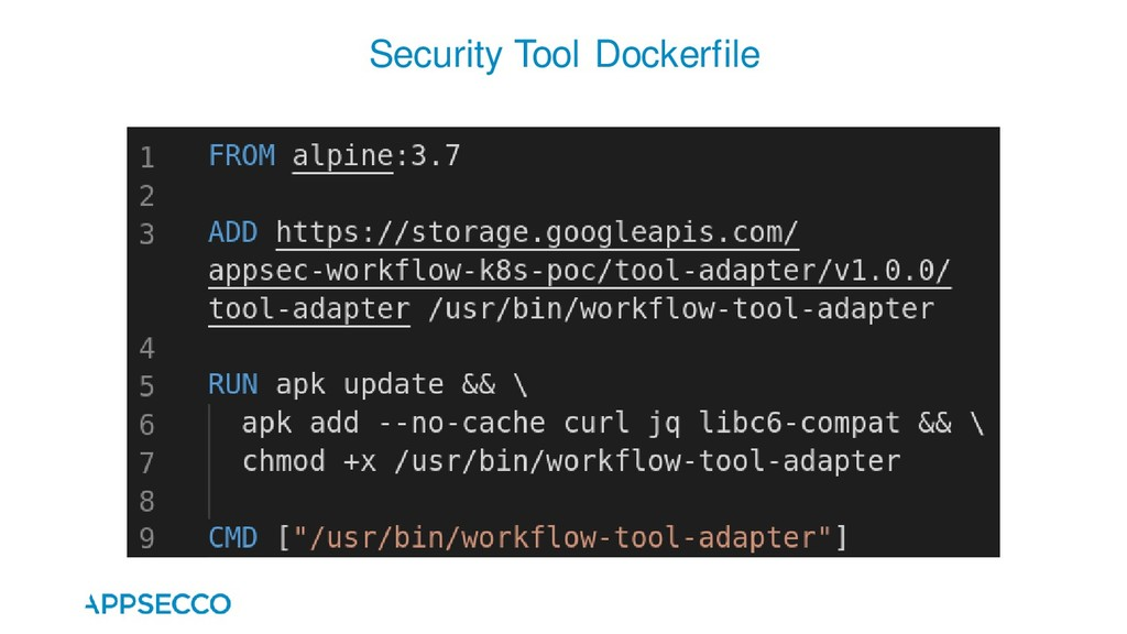 Security Tool Dockerfile