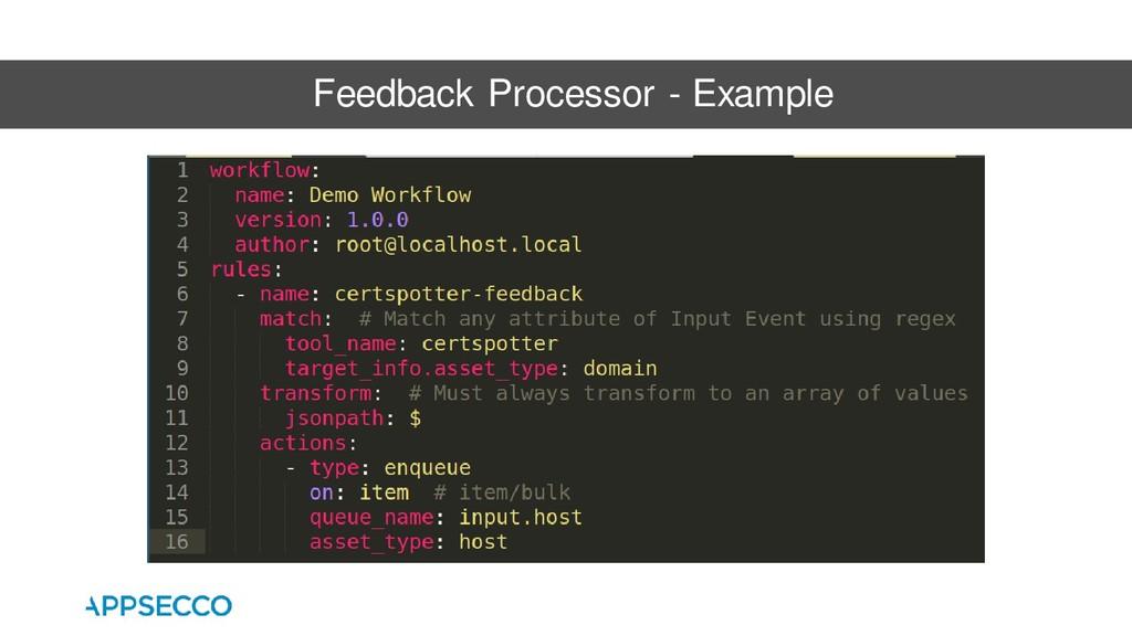 Feedback Processor - Example