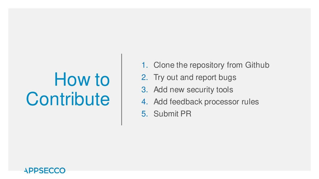 How to Contribute 1. Clone the repository from ...