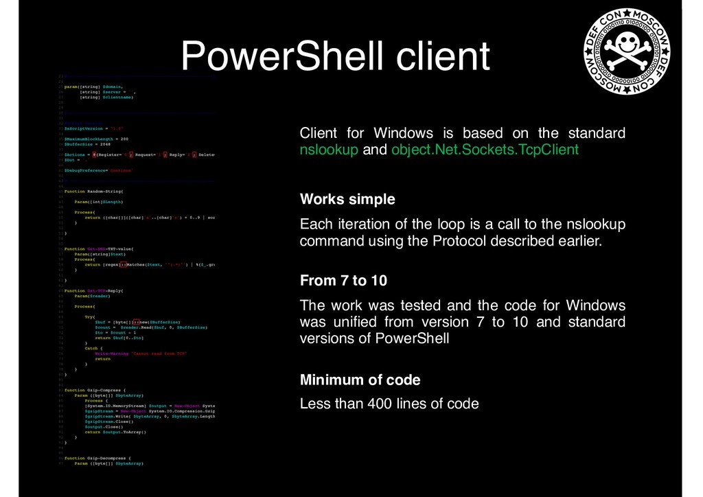 PowerShell client Client for Windows is based o...