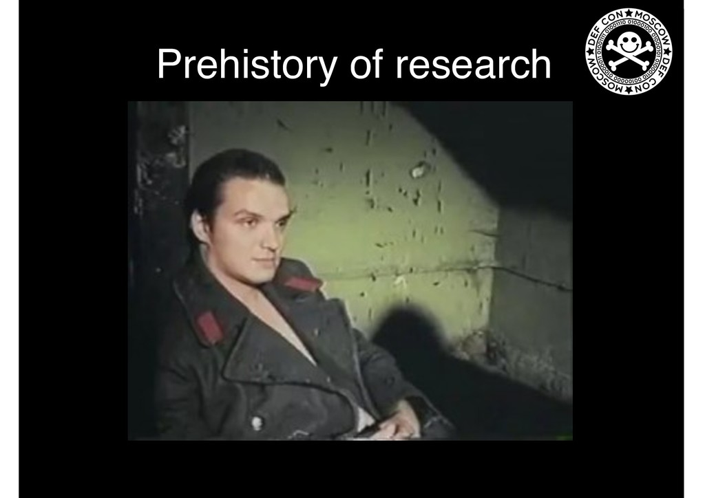 Prehistory of research