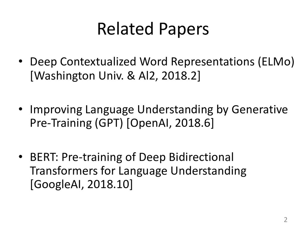 Related Papers • Deep Contextualized Word Repre...