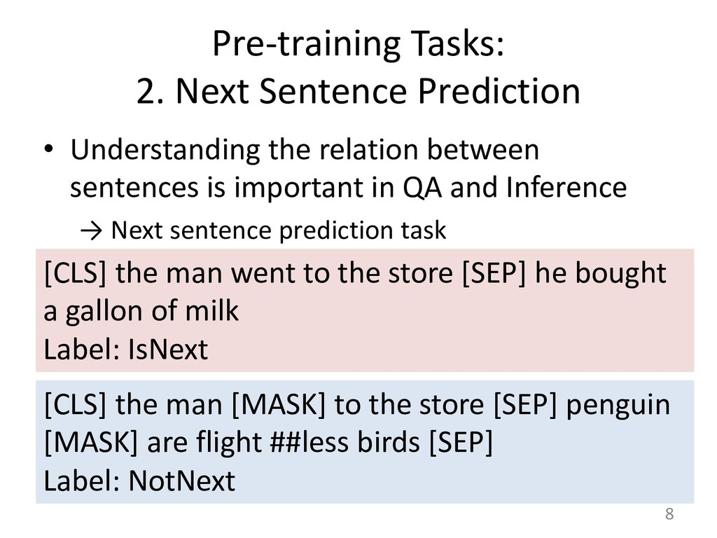 Pre-training Tasks: 2. Next Sentence Prediction...