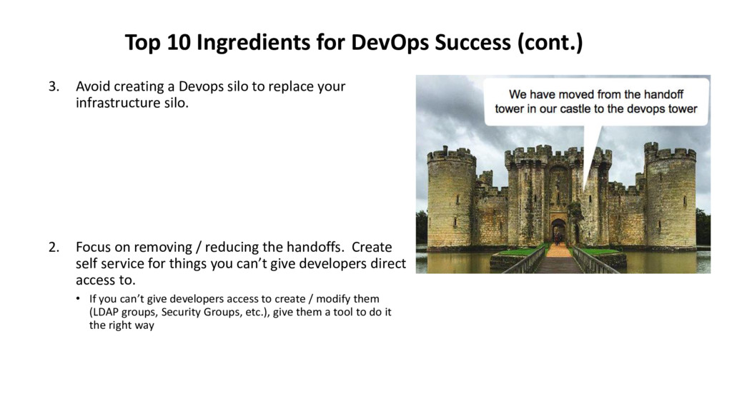 3. Avoid creating a Devops silo to replace your...