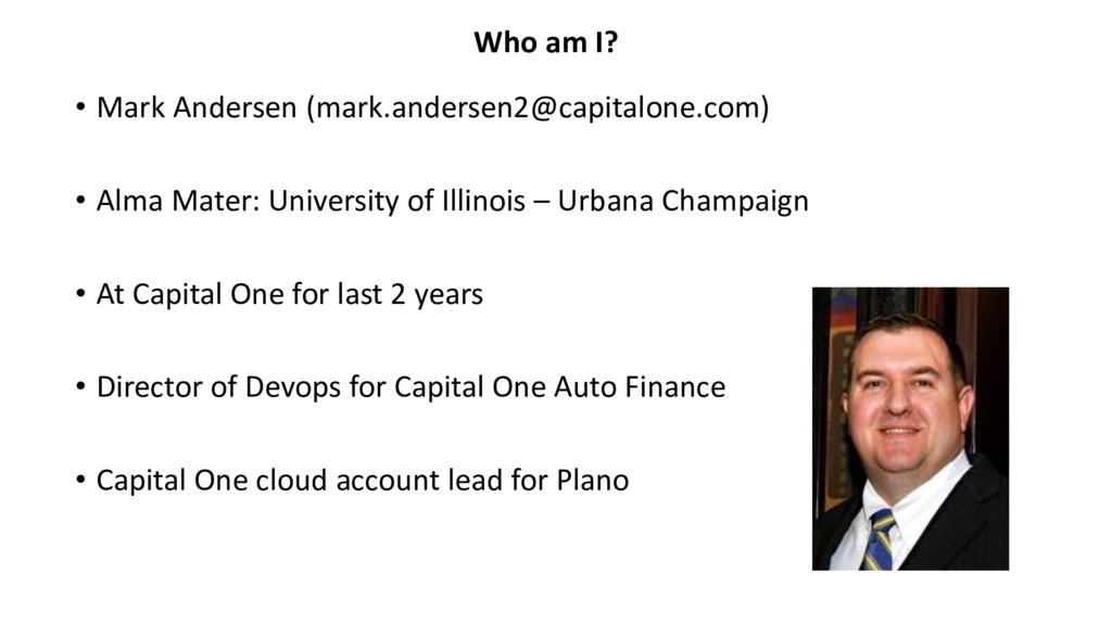 • Mark Andersen (mark.andersen2@capitalone.com)...