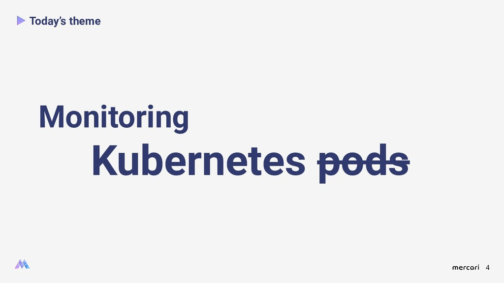 4 Today's theme Monitoring Kubernetes pods