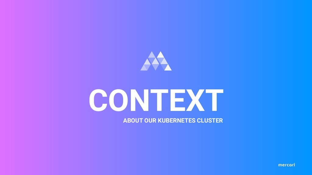 CONTEXT ABOUT OUR KUBERNETES CLUSTER