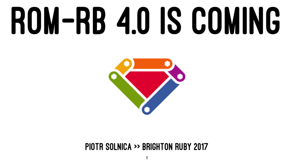 ROM-RB 4.0 IS COMING PIOTR SOLNICA >> BRIGHTON ...