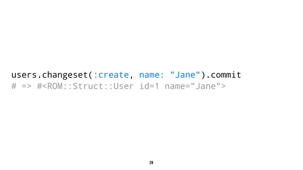"users.changeset(:create, name: ""Jane"").commit #..."