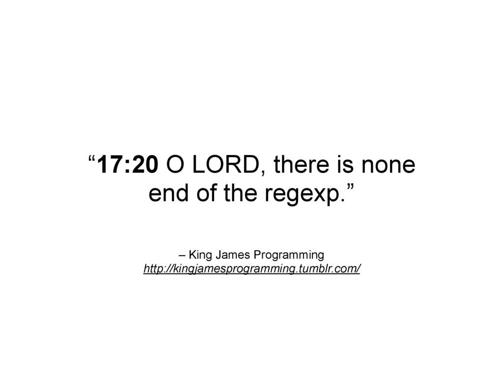 – King James Programming http://kingjamesprogra...