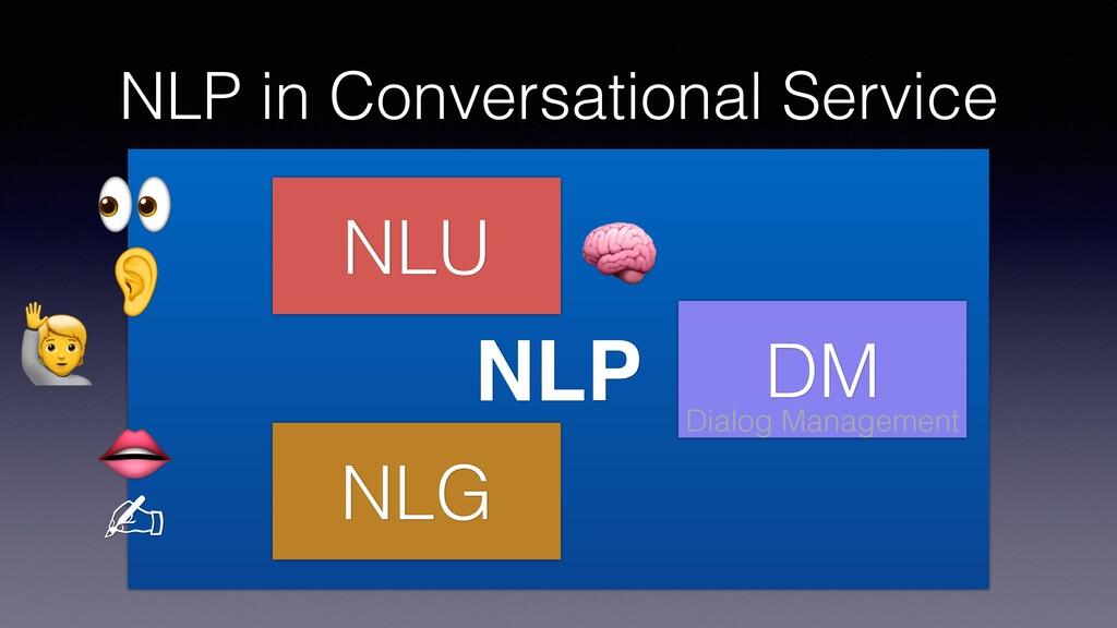 NLP in Conversational Service NLP NLU DM NLG Di...