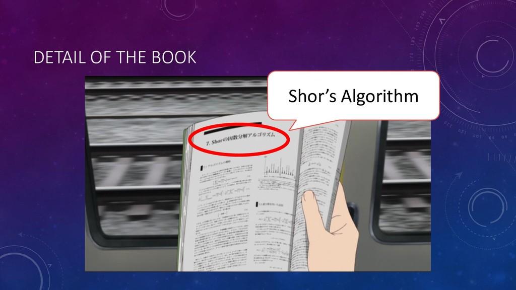 DETAIL OF THE BOOK Shor's Algorithm