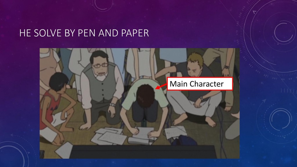 HE SOLVE BY PEN AND PAPER Main Character