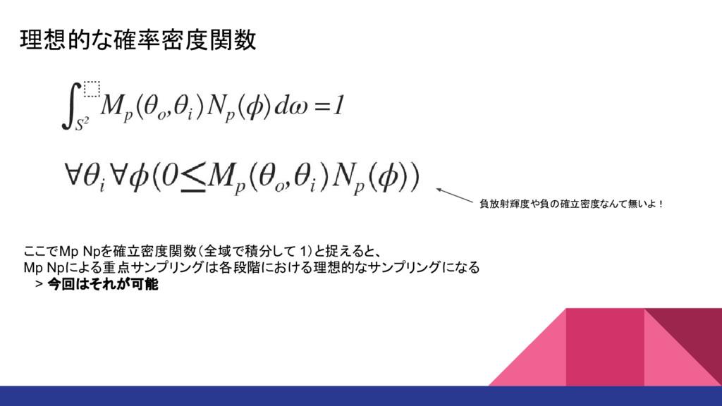 理想的な確率密度関数 ここでMp Npを確立密度関数(全域で積分して 1)と捉えると、 Mp ...