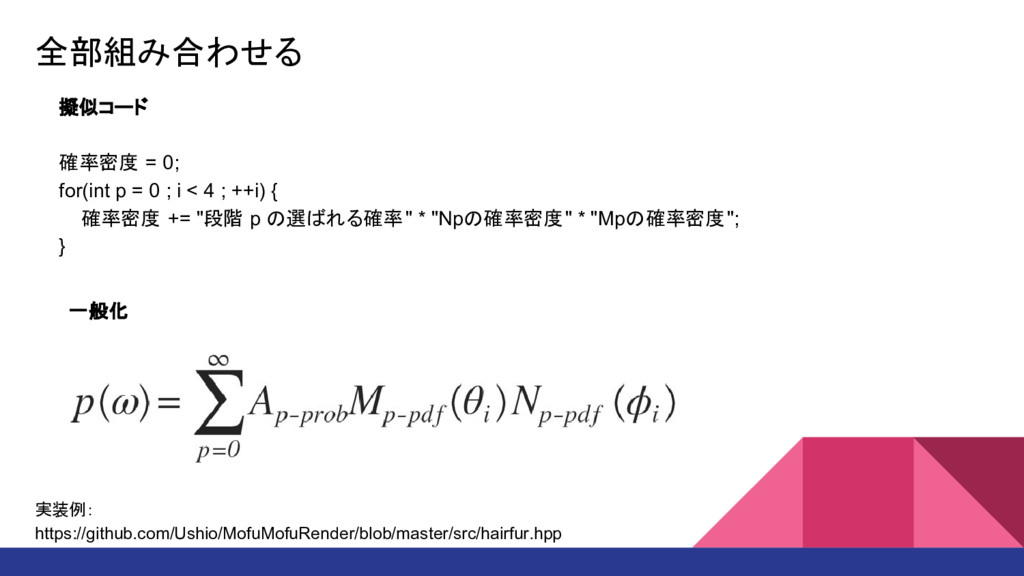 全部組み合わせる 擬似コード 確率密度 = 0; for(int p = 0 ; i < 4 ...