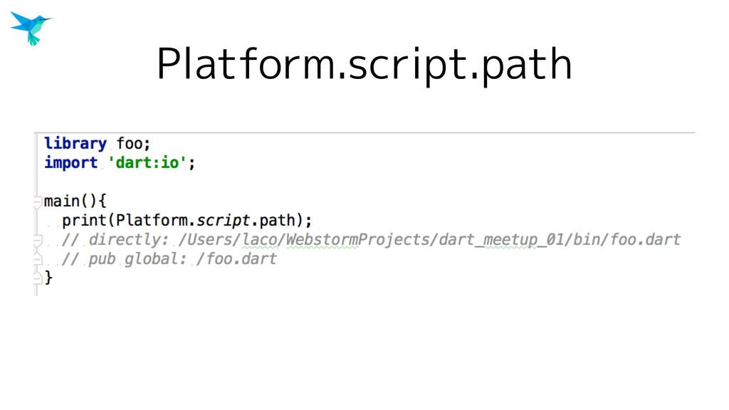Platform.script.path