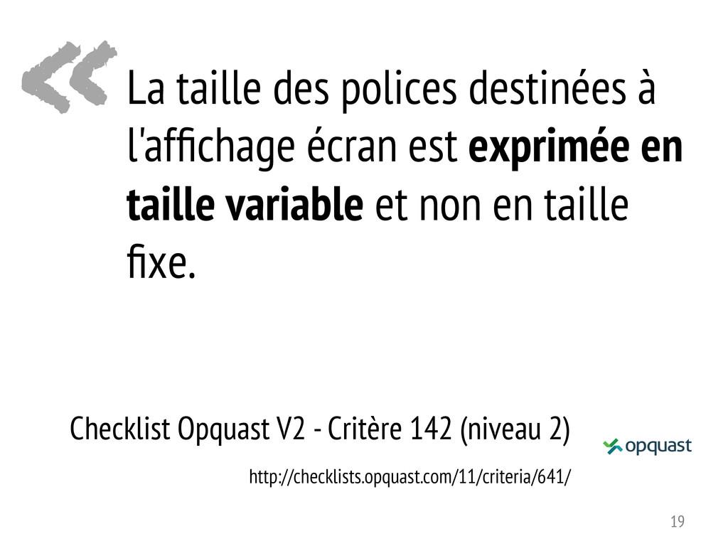 « Checklist Opquast V2 - Critère 142 (niveau 2)...