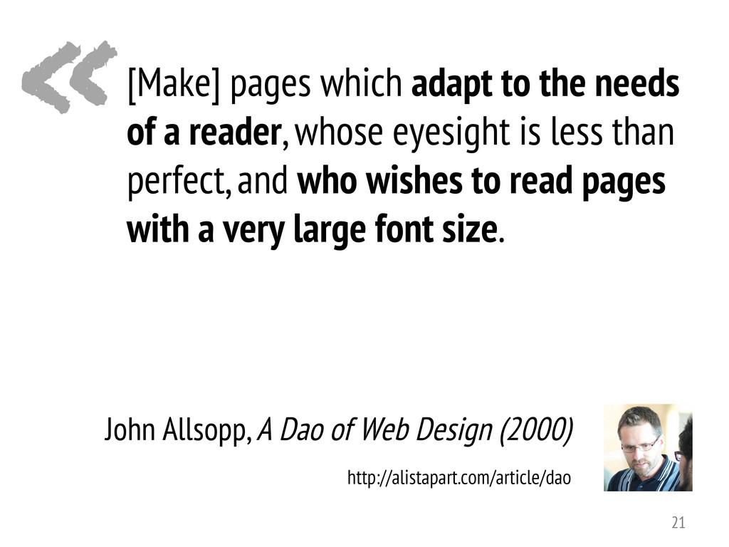 « John Allsopp, A Dao of Web Design (2000) [Mak...