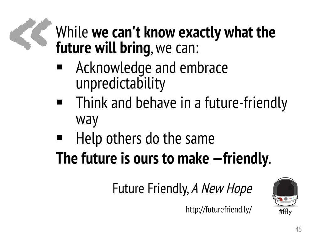 « Future Friendly, A New Hope While we can't kn...