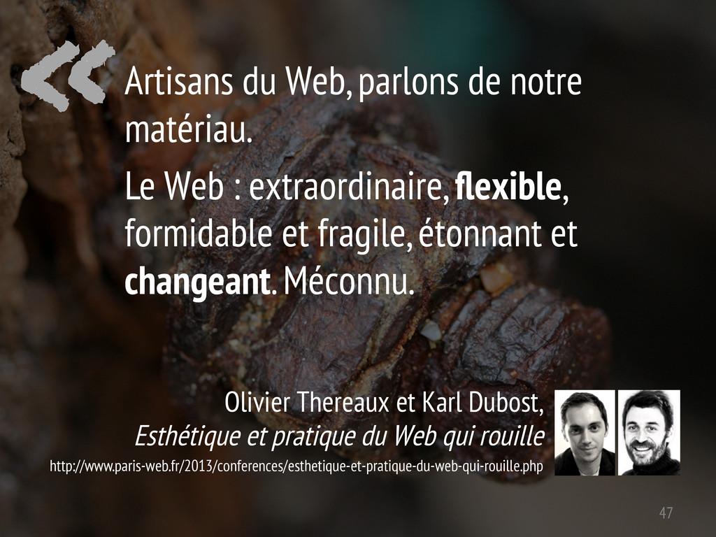 « Olivier Thereaux et Karl Dubost, Esthétique e...