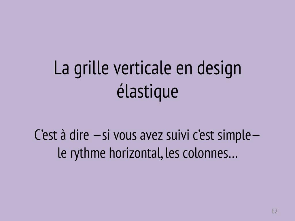La grille verticale en design élastique C'est à...