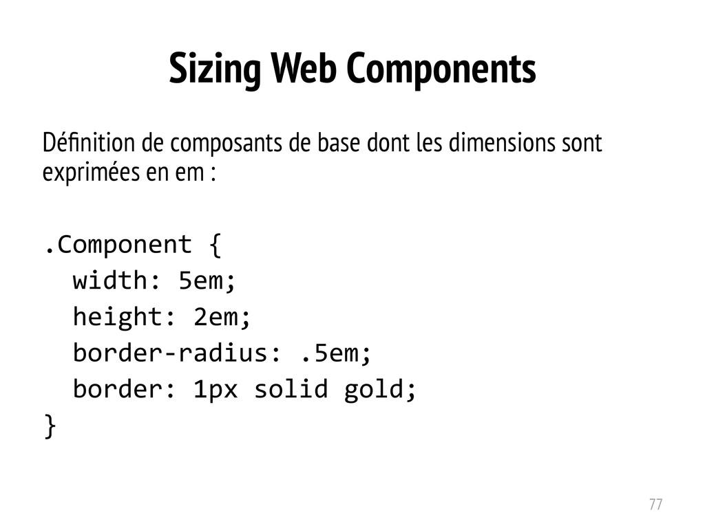 Sizing Web Components Définition de composants d...