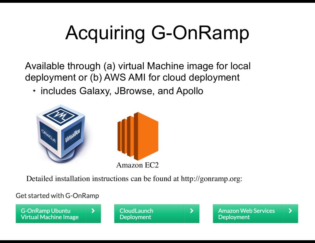Acquiring G-OnRamp Available through (a) virtua...