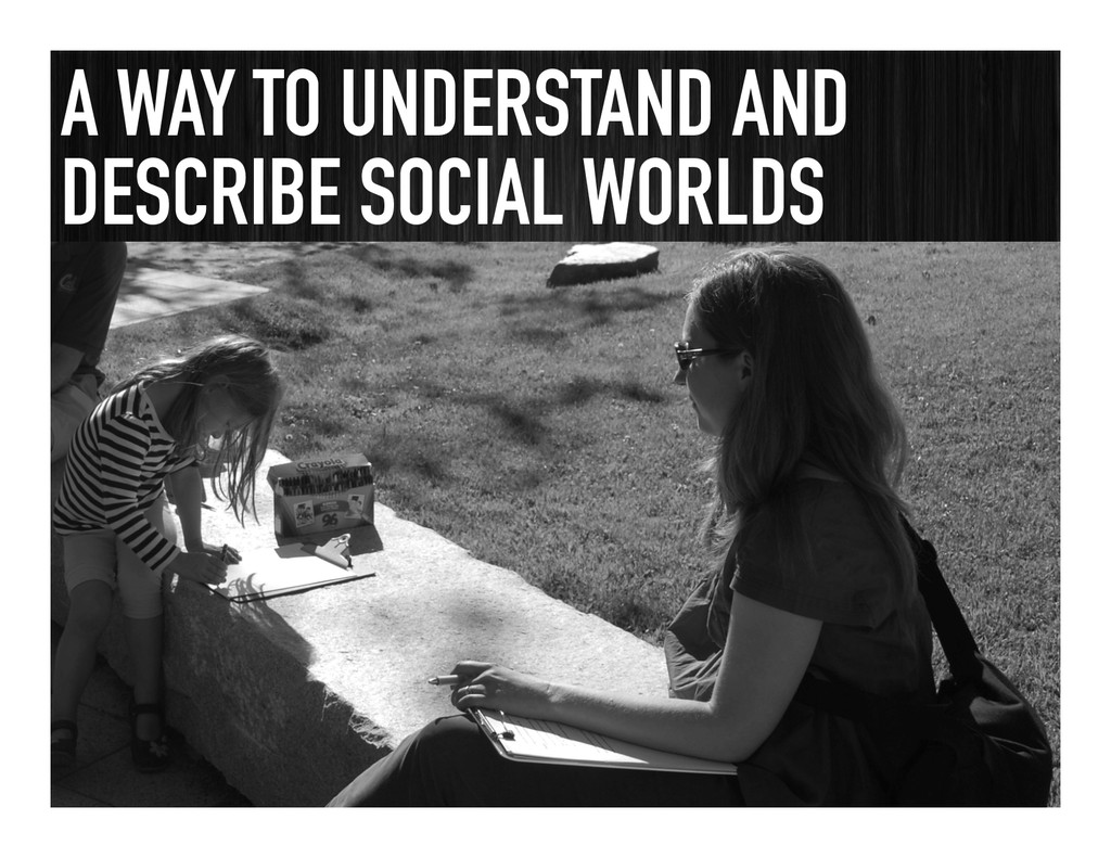 A WAY TO UNDERSTAND AND DESCRIBE SOCIAL WORLDS