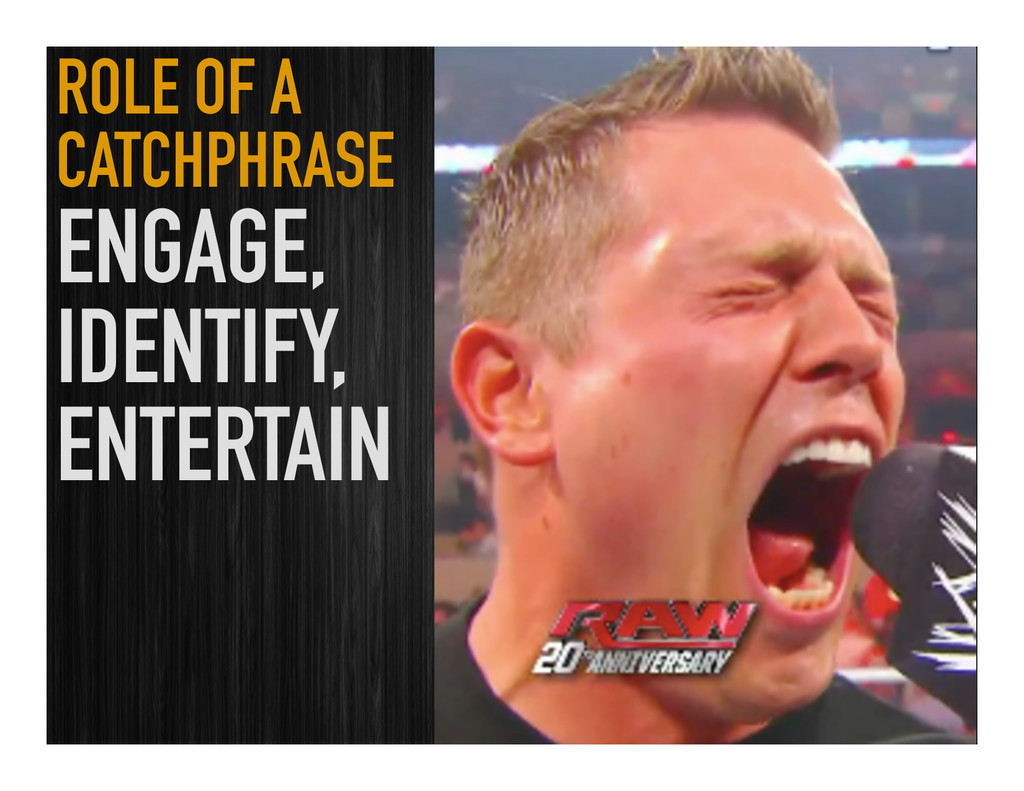 ROLE OF A CATCHPHRASE ENGAGE, IDENTIFY, ENTERTA...