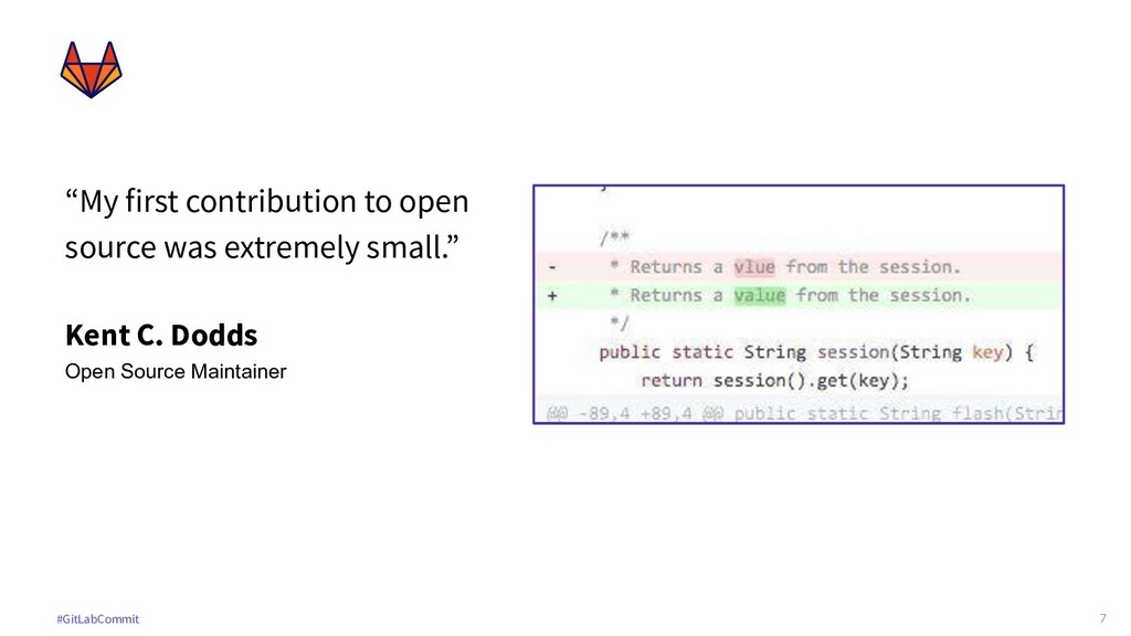 """7 #GitLabCommit """"My first contribution to open ..."""