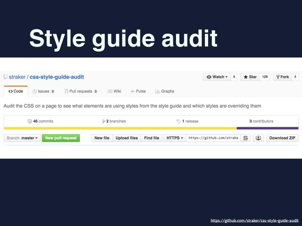 Style guide audit https://github.com/straker/cs...