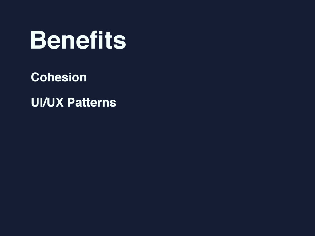 Benefits Cohesion UI/UX Patterns