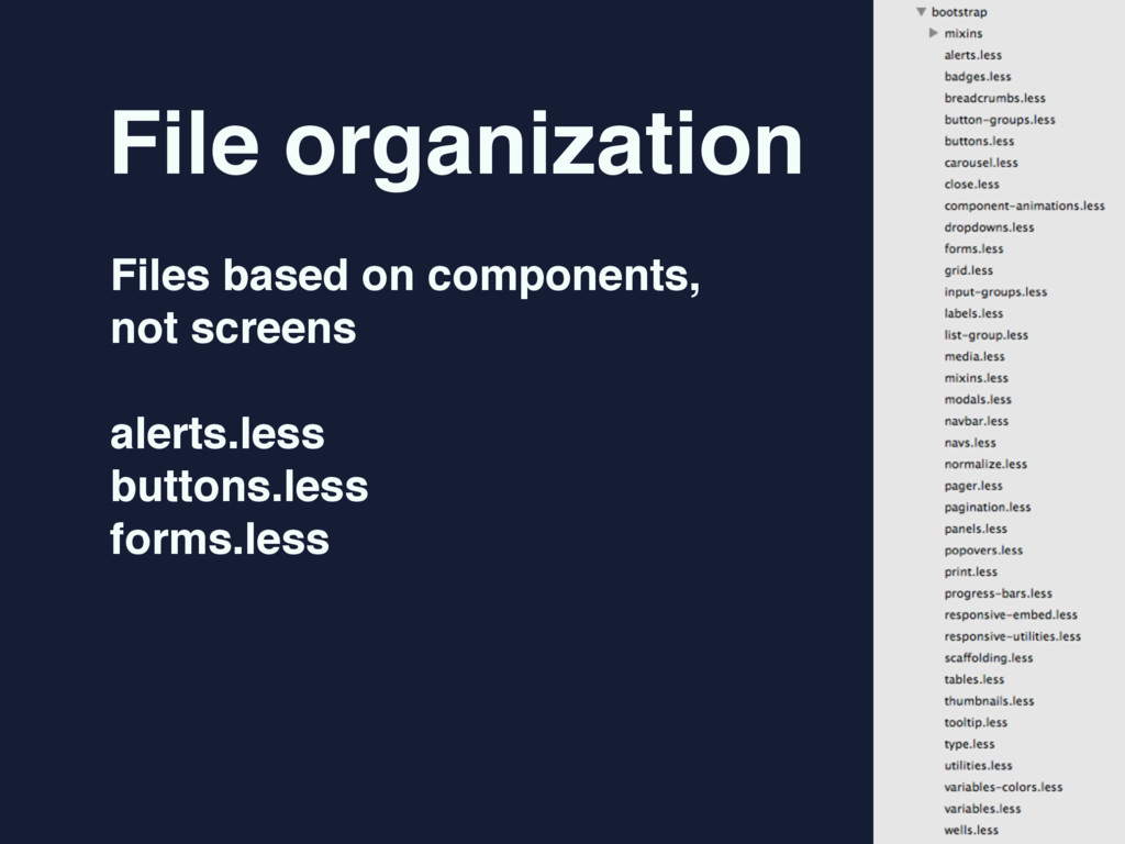 File organization Files based on components,  ...