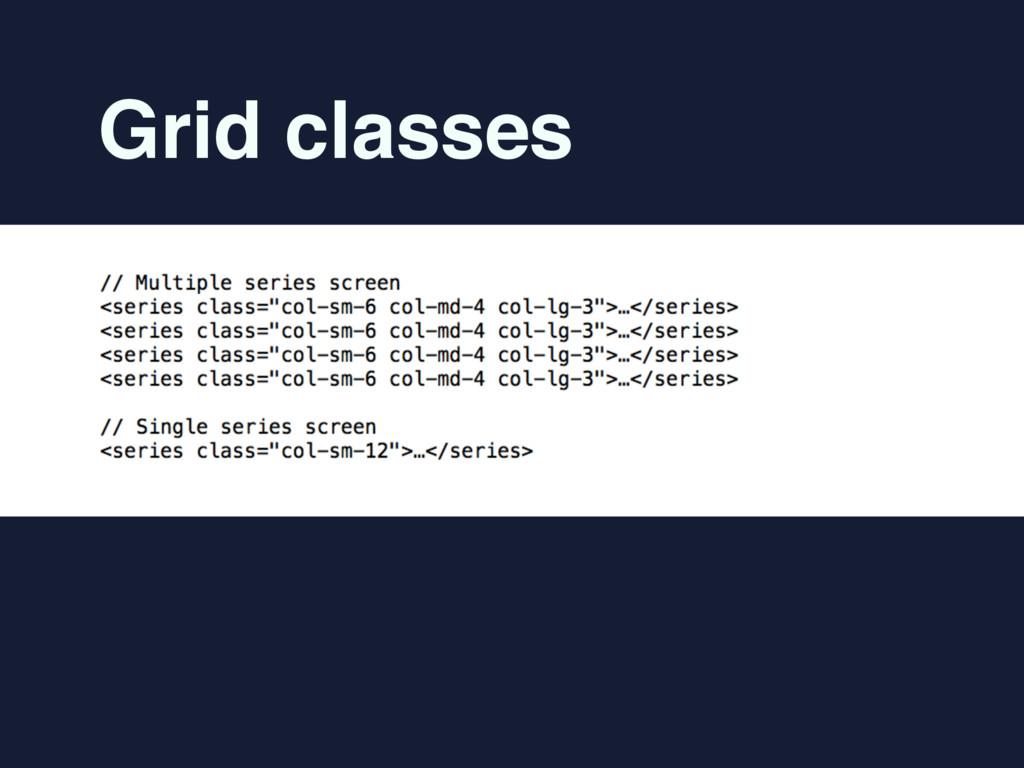 Grid classes