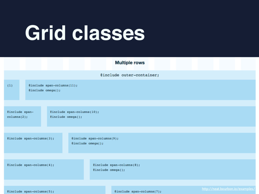Grid classes http://neat.bourbon.io/examples/