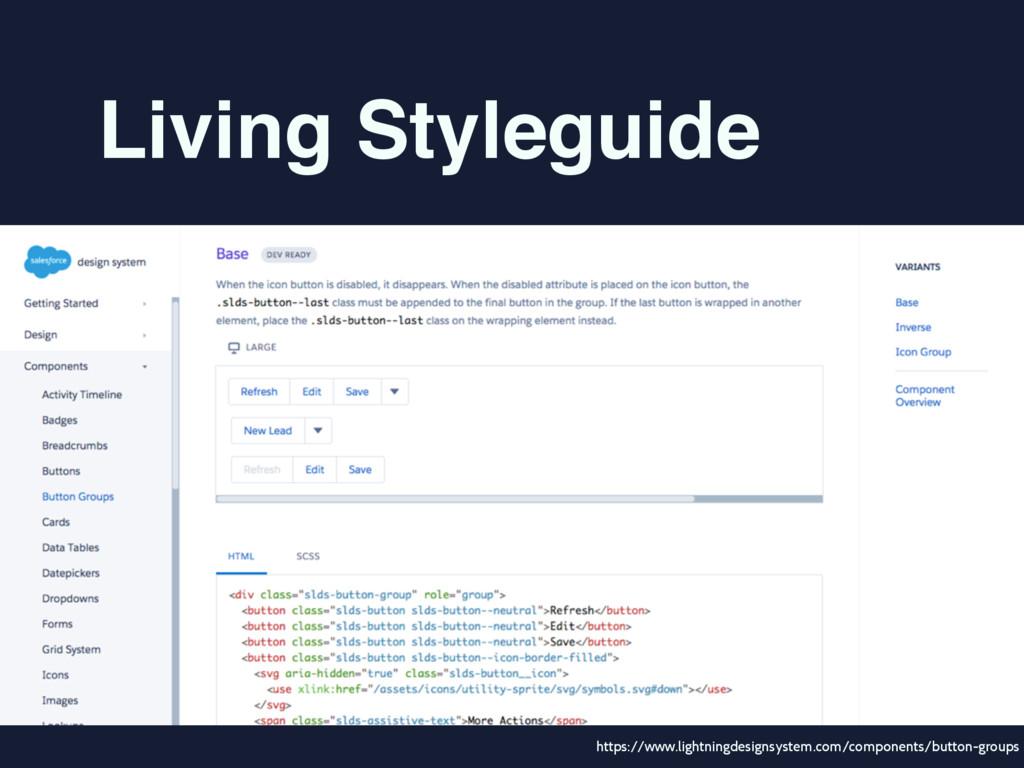 Living Styleguide https://www.lightningdesignsy...