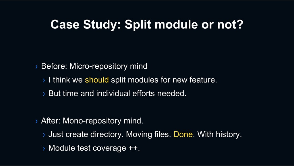 Case Study: Split module or not? › Before: Micr...