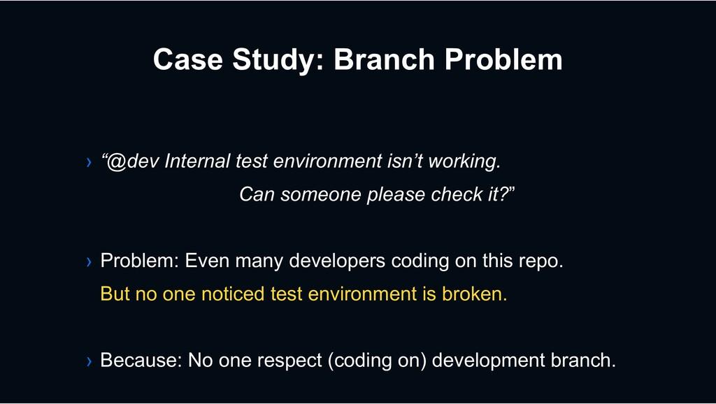 "Case Study: Branch Problem › ""@dev Internal tes..."
