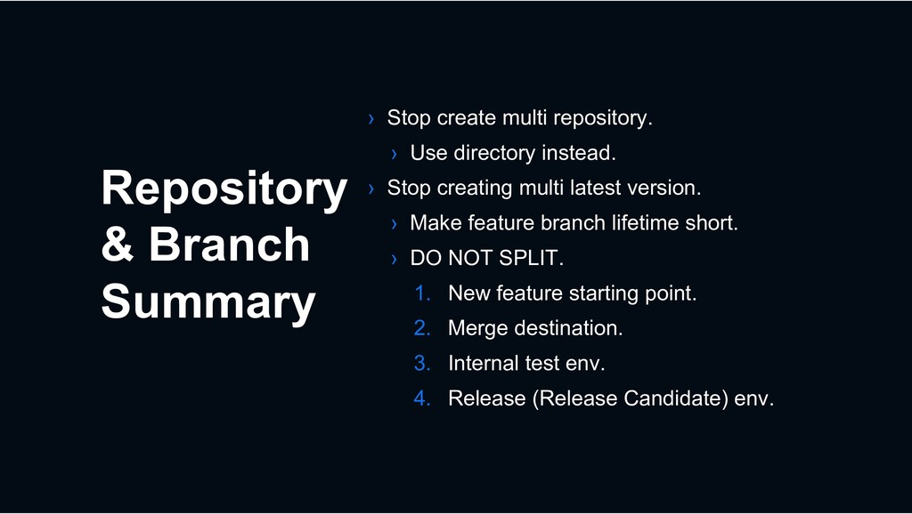 Repository & Branch Summary › Stop create multi...