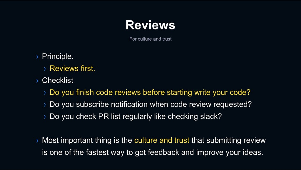 Reviews For culture and trust › Principle. › Re...