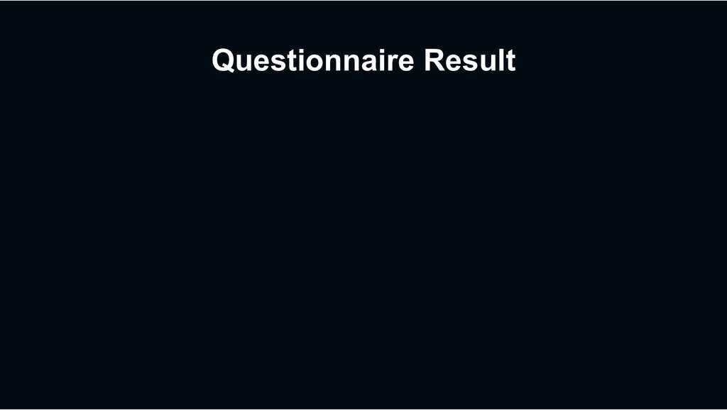 Questionnaire Result