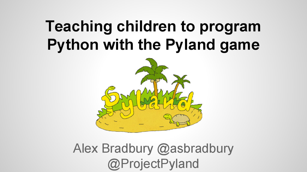 Teaching children to program Python with the Py...